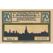 Įsrutis. 1920 m. 70 pfennigų. aUNC
