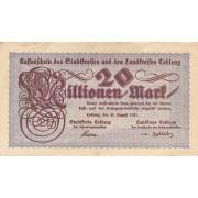 Vokietija / Koblencas. 1923 m. 20.000.000 markių. VF