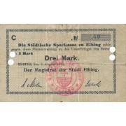 Lenkija / Elbingas. 1914 m. 3 markės. F