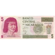 Nikaragva. 1991 m. 5 kordobos. P174. VF