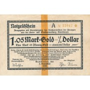 Gumbinė. 1923 m. 1.05 markės. 5 skaičiai. VF