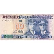 Lietuva. 1993 m. 10 litų. Serija: KAA. XF+