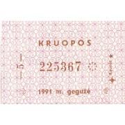 Kaunas. 1991 m. gegužė. Kruopos