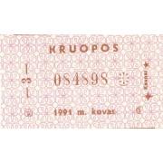 Kaunas. 1991 m. kovas. Kruopos