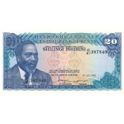 Kenija. 1978 m. 20 šilingų. UNC