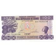 Gvinėja. 1985 m. 100 frankų. UNC