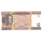 Gvinėja. 1998 m. 1.000 frankų. P37. UNC