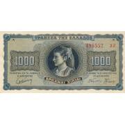 Graikija. 1942 m. 1.000 drachmų. XF
