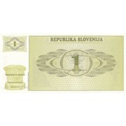 Slovėnija. 1990 m. 1 tolaras. P1. aUNC