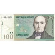 Lietuva. 2000 m. 100 litų. VF. Serija: AC