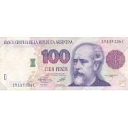 Argentina. 1992-1997 m. 100 pesų. P345. VF
