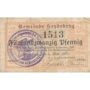 Šilutė. 1920 m. 25 pfennigai. F. RETAS