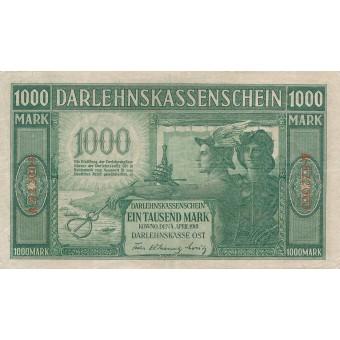 Rytų Skolinamoji Kasa. 1918 m. 1.000 markių. VF. Serija: A