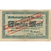 Karaliaučius. 1923 m. 1.000.000 ant 50 markių. Serija: B. F-