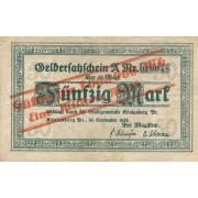 Karaliaučius. 1923 m. 1.000.000 ant 50 markių. Serija: A. VF-