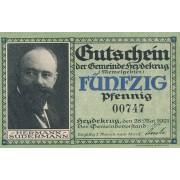 Šilutė. 1921 m. 50 pfennigų. aUNC