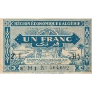 Alžyras. 1944 m. 1 frankas. VF