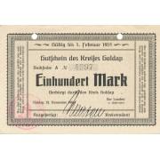 Geldapė. 1918 m. 100 markių. XF