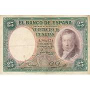 Ispanija. 1931 m. 25 pesetos. VF