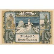 Klaipėda. 1922 m. 10 markių. XF+
