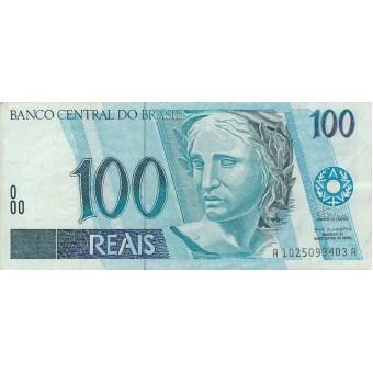 Brazilija. 1994 m. 100 rialių. P247a. VF