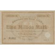 Tilžė. 1923 m. 1.000.000 markių. Serija: B. VF-