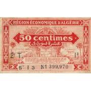 Alžyras. 1944 m. 50 sentimų. VF-