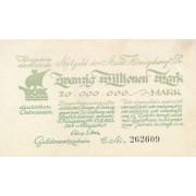 Karaliaučius. 1923 m. 20.000.000 markių. VF+