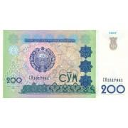 Uzbekistanas. 1997 m. 200 sumų. P80. VF+