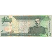 Dominikos Respublika. 2002 m. 10 pesų. VF