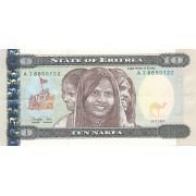 Eritrėja. 1997 m. 10 nakfų. VF