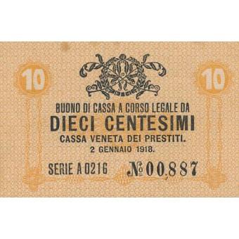Italija. 1918 m. 10 centesimų. VF-