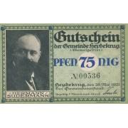 Šilutė. 1921 m. 75 pfennigai. Su No. aUNC