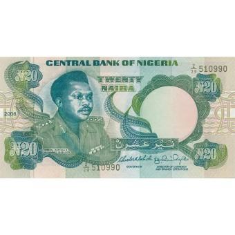 Nigerija. 2006 m. 20 nairų. P26k. UNC