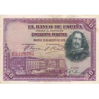 Ispanija. 1928 m. 50 pesetų. VF+