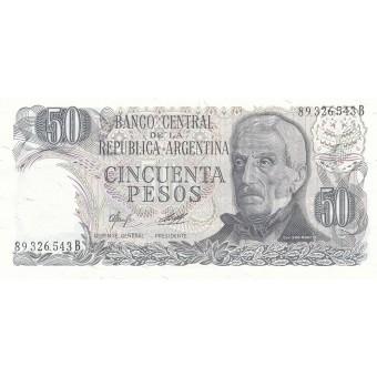 Argentina. 1976-1978 m. 50 pesų. P301a(2). UNC