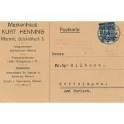 Klaipėda. 1922 m. Markenhaus KURT HENNING