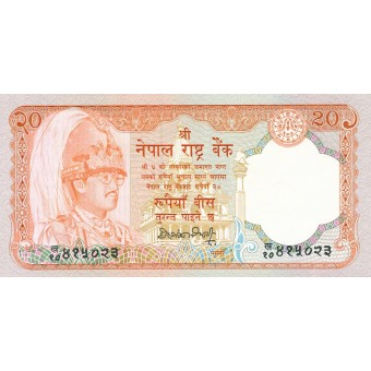 Nepalas. 1990-1995 m. 20 rupijų. aUNC