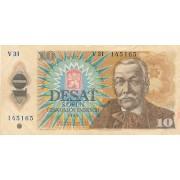 Čekoslovakija. 1986 m. 10 korunų