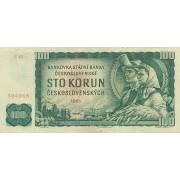 Čekoslovakija. 1961 m. 100 korunų