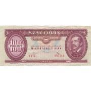 Vengrija. 1975 m. 100 forintų