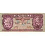 Vengrija. 1962 m. 100 forintų