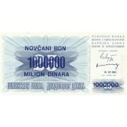Bosnija ir Hercegovina. 1993 m. 1.000.000 dinarų ant 25 dinarų. UNC