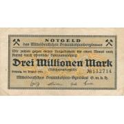 Vokietija / Leipcigas. 1923 m. 3.000.000 markių