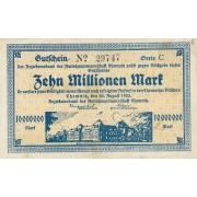 Vokietija / Chemnicas. 1923 m. 10.000.000 markių