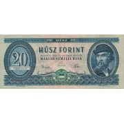 Vengrija. 1962 m. 20 forintų