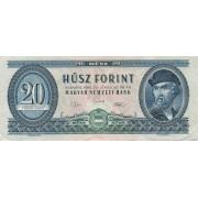 Vengrija. 1969 m. 20 forintų