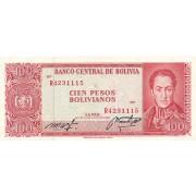 Bolivija. 1962 m. 100 pesų