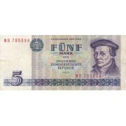 Vokietija / VDR. 1975 m. 5 markės