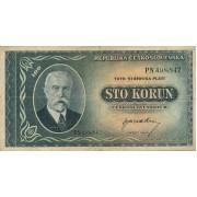 Čekoslovakija. 1945 m. 100 korunų
